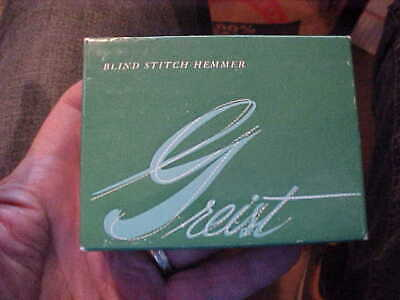 Vintage  GREIST Blind Stitch Hemmer with Box and Instruction