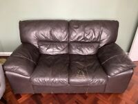 FREE - Brown Leather sofa - from DFS