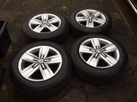"""VW 17"""" Alloy Wheels & Tyres (Continental) x 4"""