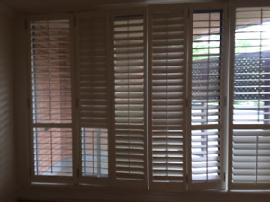 Interior Plantation Hinged Shutters with Louvres