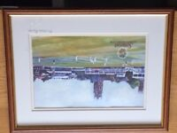 nice print of Somerset county cricket ground ,before they spoilt it