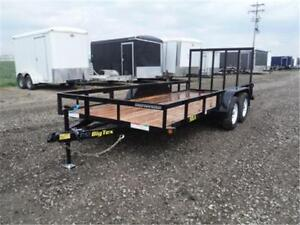 6.5 x 16 Tandem Axle Trailer - 5,000# GVW - OUT THE DOOR PRICES!