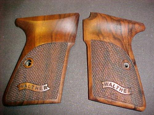 Walther PP Fine Checkered English Walnut Pistol Grips w/Banner Logo Beautiful!
