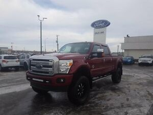 2016 Ford F-350 PLATINUM, 6'' LIFT, DVD ENTERTAINMENT