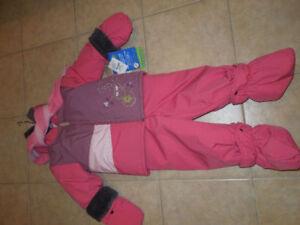 Ensemble hiver Perlimpinpin et foulard 30 mois (AVEC ÉTIQUETTES)