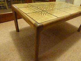 G Plan Coffee Table, retro 1970's tiled top crocodile back design