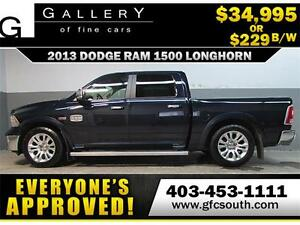 2013 DODGE RAM LONGHORN CREW *EVERYONE APPROVED* $0 DOWN $229/BW