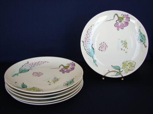 "Set of 6 Castleton FRENCH GARDEN 8-1/4"" Salad/Dessert Plates Mid-Century Modern"
