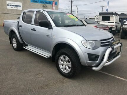 2010 Mitsubishi Triton MN MY10 GLX (4x4) Silver 5 Speed Manual 4x4 Double Cab Utility Mitchell Gungahlin Area Preview