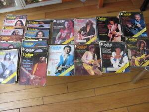 Vintage 70s 30 magazines guitar player de 1975 à 1979