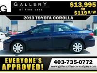 2013 Toyota Corolla S $119 Bi-Weekly APPLY NOW DRIVE NOW