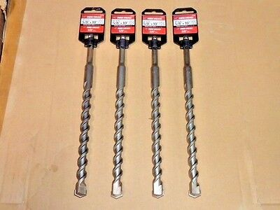 Lot Of 4 Itw Red Head 58 X 10 Sds-plus Masonry Concrete Drill Bit 58 10 Inch