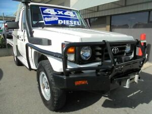 2003 Toyota Landcruiser HDJ79R White 5 Speed Manual Cab Chassis Edwardstown Marion Area Preview