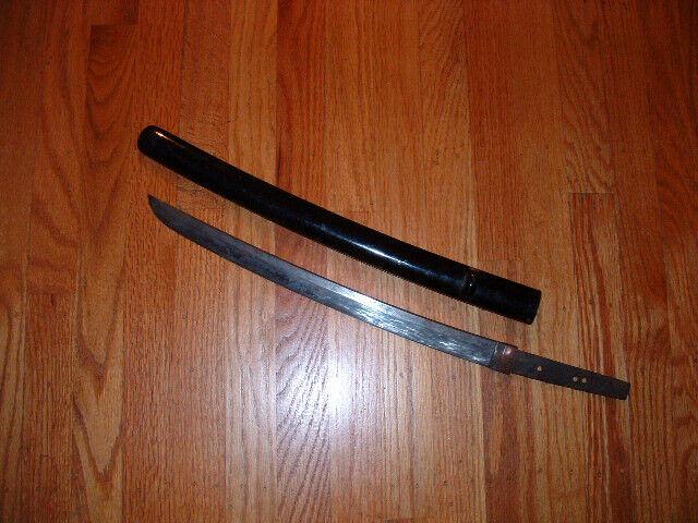 [SM046] Japanese Samurai Sword:  Mumei Wakizashi Blade and Habaki
