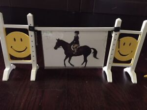 Lot of Breyer Jumps, Fences, and Assorted Furniture