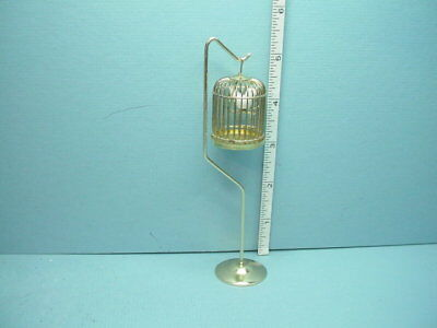 Miniature Bird Cage on Stand #D4751A - Town Square Miniatures 1/12th Scale