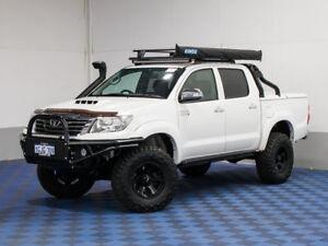 2013 Toyota Hilux KUN26R MY14 SR5 (4x4) White 5 Speed Automatic Dual Cab Pick-up