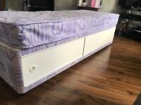Childs single bed and mattress. Free local delivery