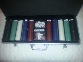 500 Piece poker set NEW in aluminium case