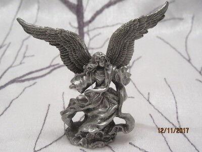 """VINTAGE RAWCLIFFE FINE PEWTER 1997 """"ANGEL"""" FIGURINE"""
