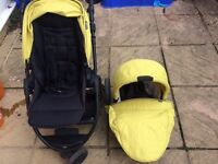Mamas & Papas Zoom Pushchair and Cary Cot