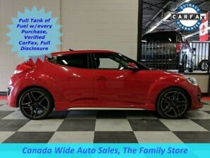 2013 Hyundai Veloster Turbo, Leather, Panoramic Sunroof, Back Up Camera