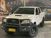 2014 Toyota Hilux KUN26R MY14 SR White Automatic Cab Chassis Prospect Blacktown Area Preview