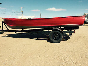 1973 Harber 14' Aluminum Boat and Trailer
