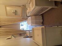 Beautiful Ivory silk curtains and bespoke box pelmet (Bearsden, Glasgow)