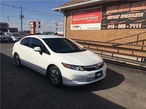 2012 Honda Civic Sdn LX***ONLY 66 KMS***4 DOOR****GREAT ON GAS
