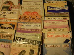 Vintage sheet music  135 pieces..1920---1950s or so