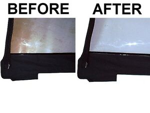 Convertible Top Plastic Window Cleaner Restorer Polish And