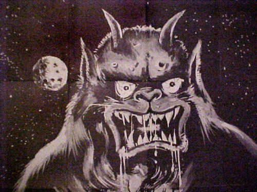 Vintage 6 Foot MOON MONSTER (reproduction) Sold in the 1970