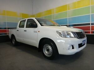 2012 Toyota Hilux KUN16R MY12 SR White 5 Speed Manual Dual Cab Pick-up Wangara Wanneroo Area Preview