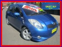 2005 Toyota Yaris NCP91R YRX Blue 5 Speed Manual Hatchback Canada Bay Canada Bay Area Preview