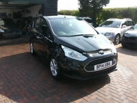 2014 Ford B-Max 1.0T 100ps EcoBoost Zetec SALVAGE DAMAGED REPAIRABLE DRIVES