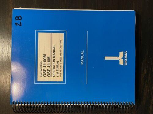 Okuma OSP U10M U100M Operation Manual