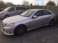 2009/59 Mercedes E250 CDi Sports Auto AMG, silver, SAT NAV,ELEC HEATED SEATS, PARK SENSORS, ALLOYS