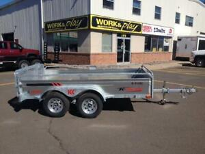 "NEW 2019 K-TRAIL 66"" x 10' GALVANIZED TANDEM UTILITY TRAILERS"