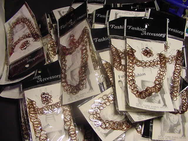 WHOLESALE LOT OF 24 SETS TATTOO JEWELRY JEWLRY RINGS tatoo Necklace Bracelet