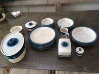 Vintage Blue Danish Crockery