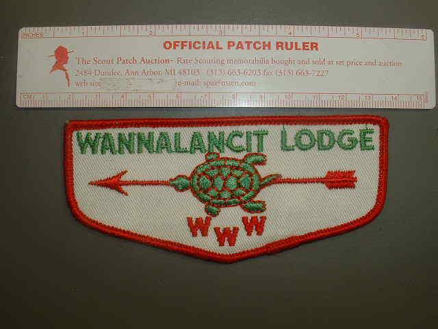 Boy Scout OA 451 Wannalancit flap 3845K