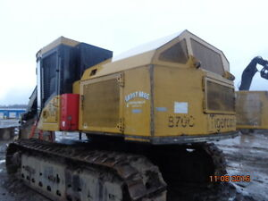 Tigercat 870C Feller buncher, 360 deg head