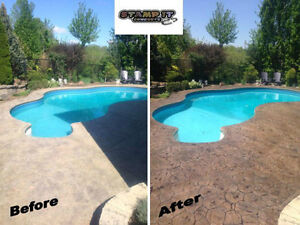 Stamped Concrete Resealing / Restoration And More! London Ontario image 4