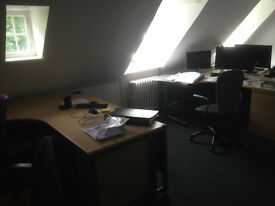 Co-working, Work Space, 2x Desk spaces available. Friendly shared Office space. Richmond.