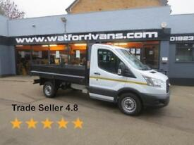 2016 Ford Transit 350 2.2TDCi 125ps L2 10'Steel Body S/Cab Tipper Diesel white M