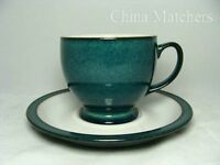 6 x Denby Greenwich cups and saucers