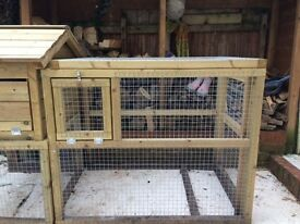 Sturdy professionally built hen house and run made with solid timber