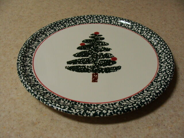 "Furio Italy Stoneware Christmas Holiday Round Cookie Cake Serving Platter, 12"" +"
