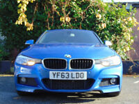 BMW 3 SERIES 2.0 320D M SPORT 4d AUTO (blue) 2013